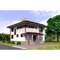 Готовый проект недорогого двухэтажного дома с камином и большой гостиной
