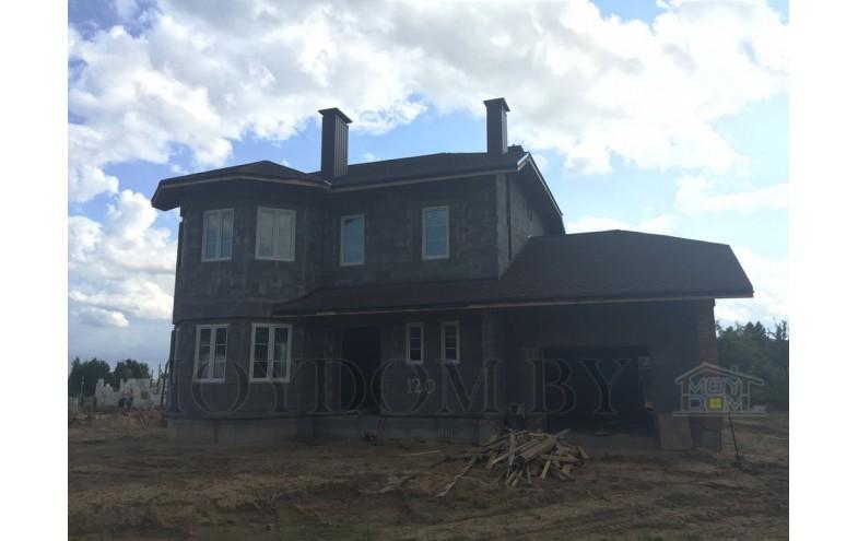 Готовый проект двухэтажного блочного дома площадью до 200 кв.м с просторными комнатами