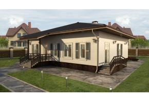 Проект дома с баней 117-B
