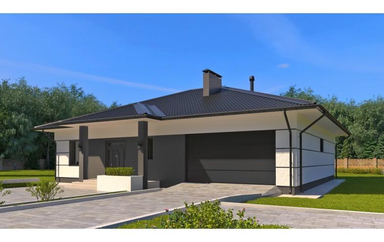 Готовый проект одноэтажного блочного дома с объединенной кухней и гостиной до 200 кв.м