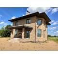Серия проектов двухэтажных блочных домов площадью до 200 кв.м