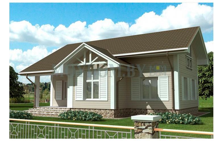 Готовый проект двухэтажного дома с просторным холлом