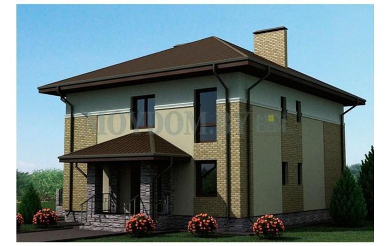 Готовый проект классического двухэтажного дома площадью до 250 кв.м