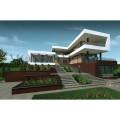 Готовый проект двухэтажного блочного дома с тренажерным залом, винным погребом и домашним кинотеатром