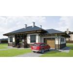 Проекты одноэтажных домов с гаражом