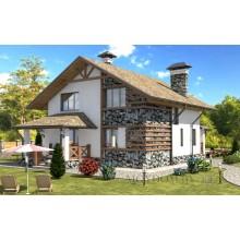 Проект одноэтажного дома до 100 кв. м. Дорога с южной стороны
