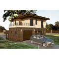 Готовый проект двухэтажного блочного дома площадью с подвалом от 250 кв.м