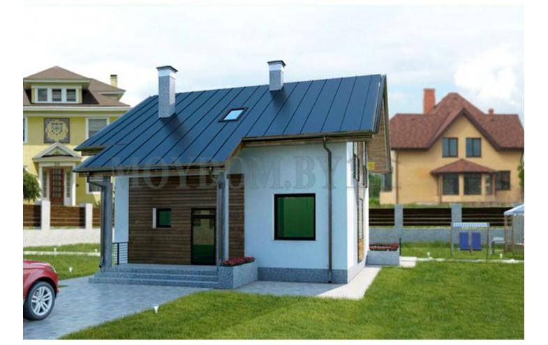 Готовый проект компактного мансардного дома с 4-мя спальнями