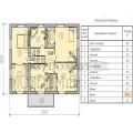 Готовые проект блочного двухэтажного дома с 4-мя спальмями