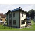 Готовый проект двухэтажного дома с 2-мя террасами