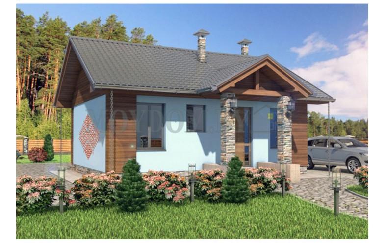 Проект одноэтажного дома с  белорусскими мотивами