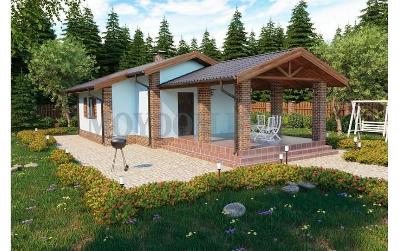 Готовый проект одноэтажного дома-бани