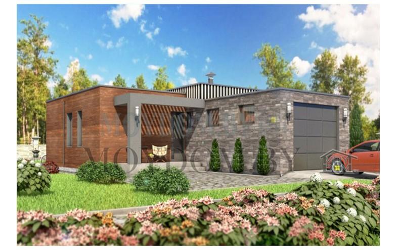 Готовый проект одноэтажного дома