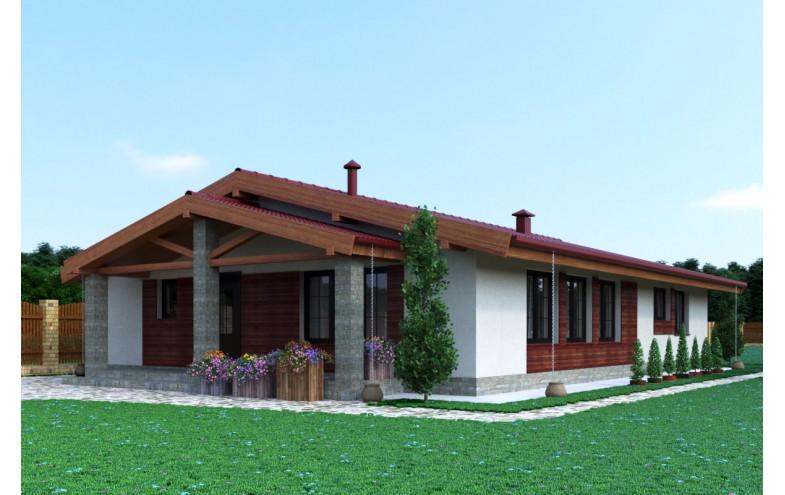Готовый проект одноэтажного дома с 4 спальнями до 150 кв.м