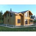 проект дома из бруса с мансардой со вторым светом
