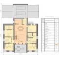 Готовый проект современного двухэтажного дома с плоской крышей и  автостоянкой