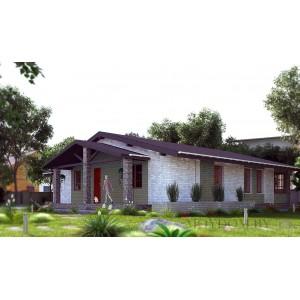 Проект дома с баней 705