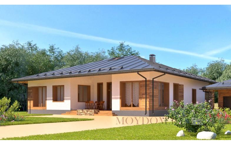 Проект дома со вторым светом террасой и гаражом
