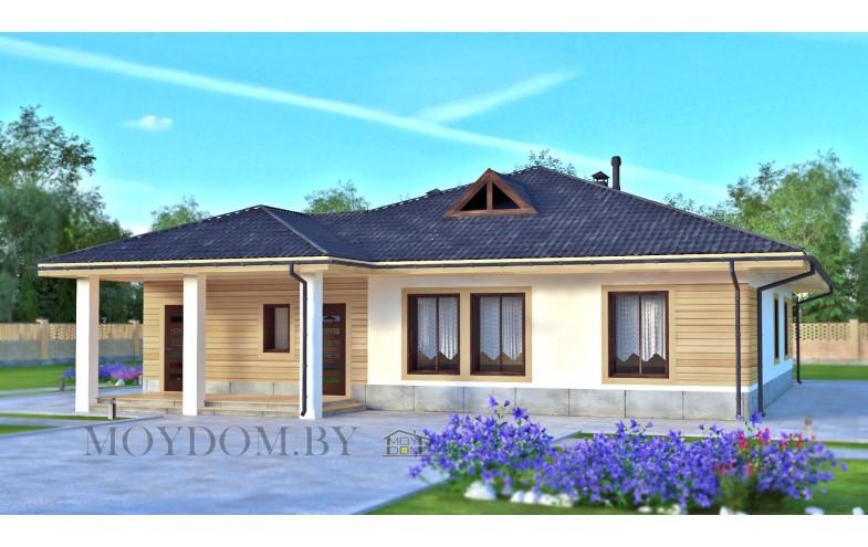 Проект одноэтажного дома с 4 спальнями 200 м.кв.
