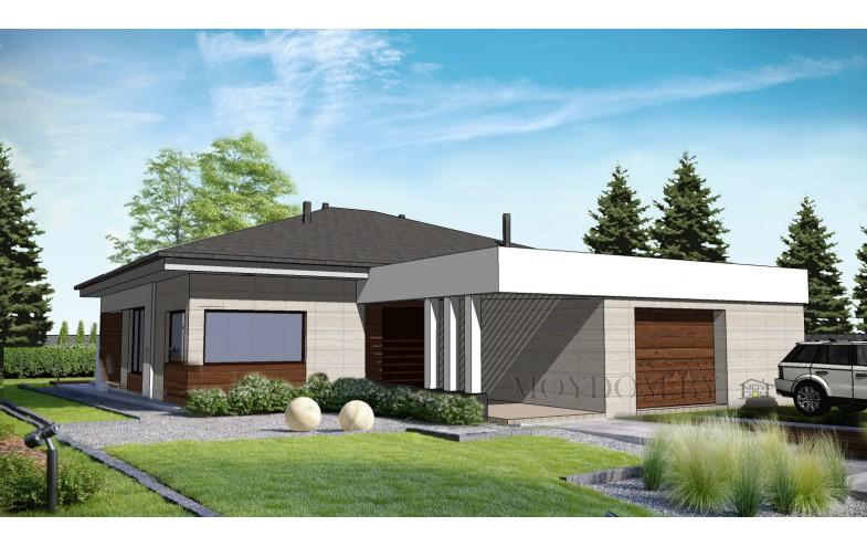проект одноэтажного дома с 4 спальнями 160 м.кв.