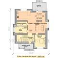 Двухэтажный проект дома в классическом стиле