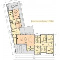 Проект одноэтажного дома 909 со вторым светом навесом и баней
