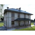 Готовый проект двухэтажного двухквартирного дома из блоков