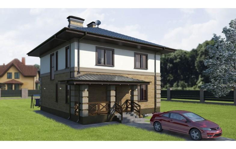 Проект двухэтажного дома 9.2 на 9.2