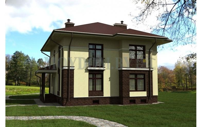 Готовый проект двухэтажного дома с подвалом большой площади
