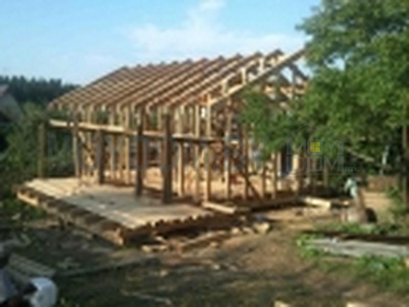 фото строительства каркасного дома