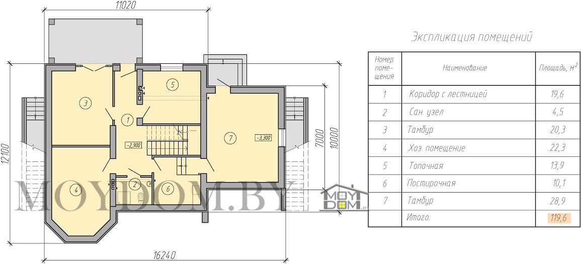план двухэтажного дома с подвалом