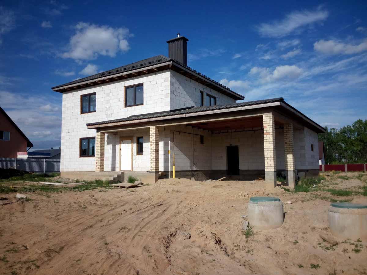 вид двухэтажного дома