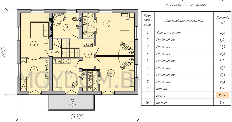 план двухэтажного дома с гаражом второй этаж