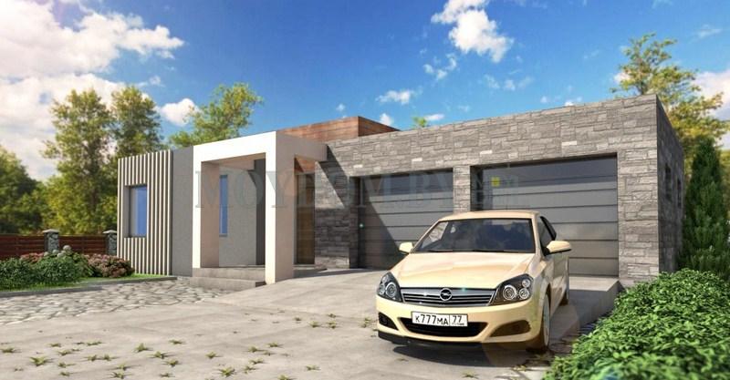 проект дома с гаражом фото