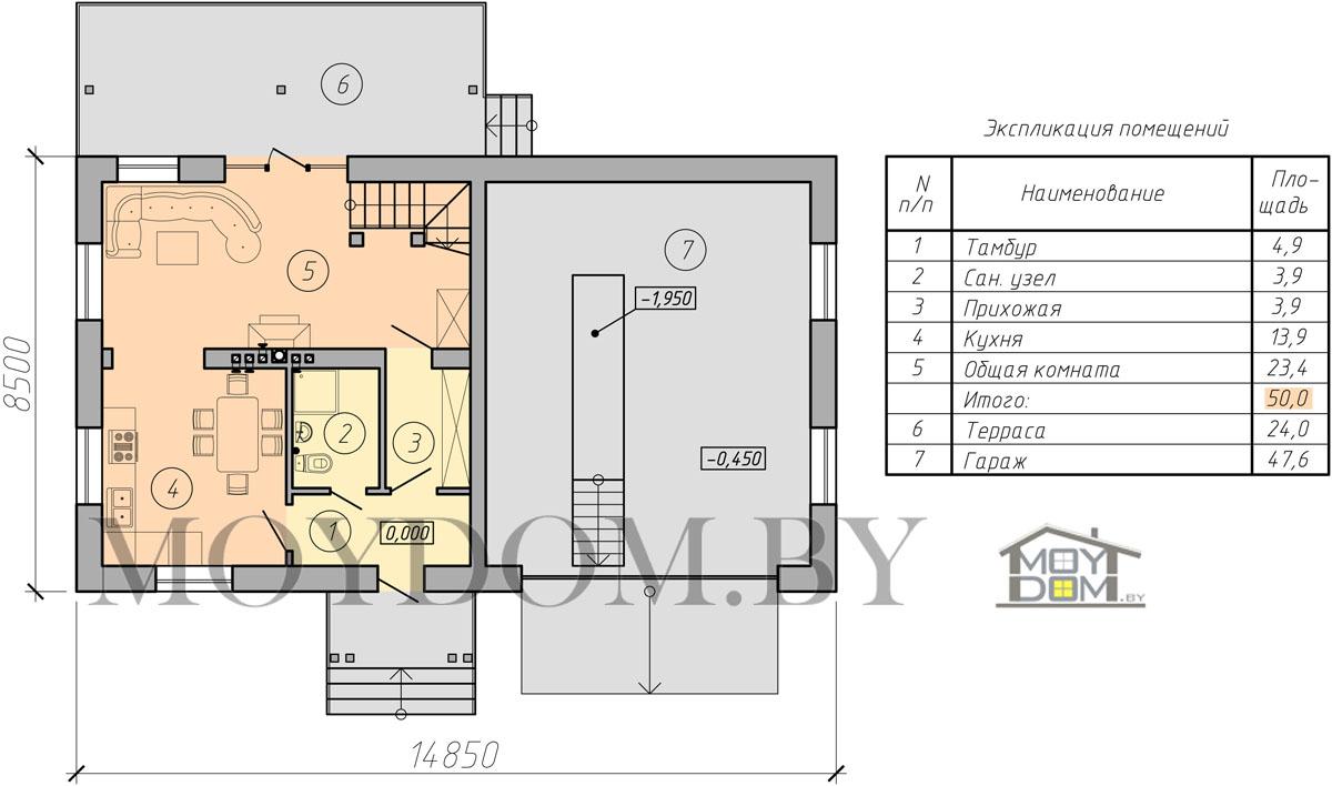 план мансардного дома изображение