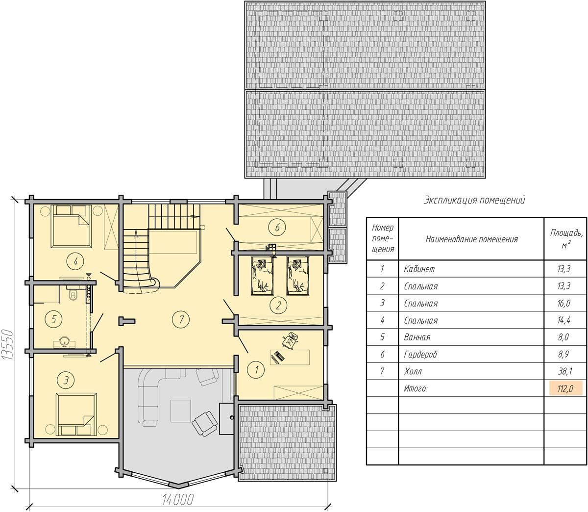 фото мансардного дома с гаражом второй этаж