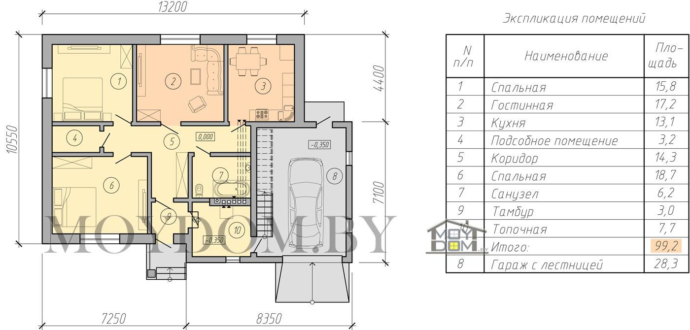 мансардный дом план фото