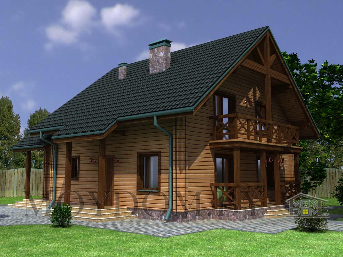 деревянный дом проект