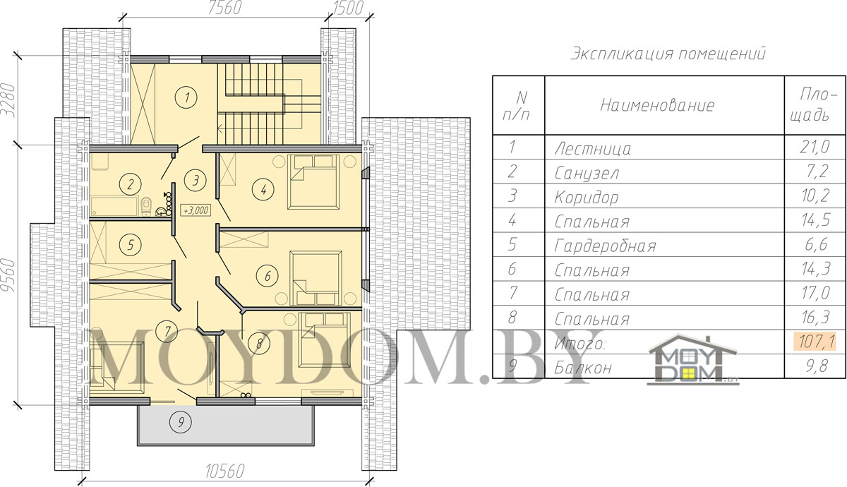 проект мансардного дома второй этаж фото