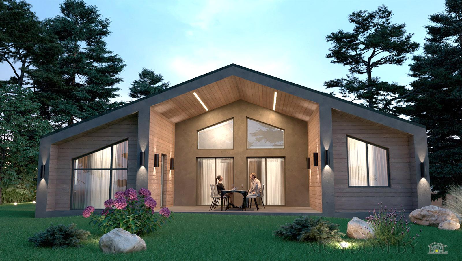 барнхаус проект дома 130 м.кв.