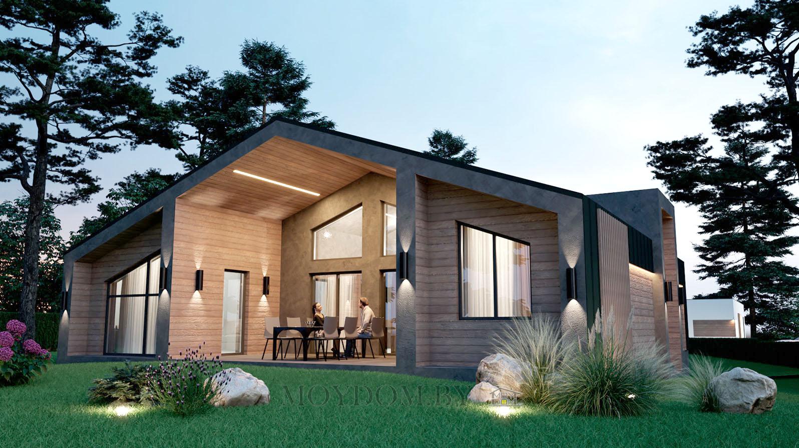 дом в стиле барнхаус barnhouse одноэтажный фото