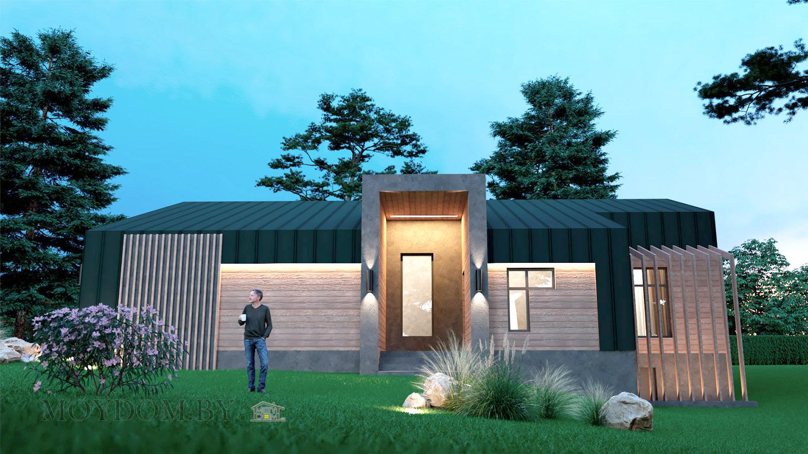 барнхаус одноэтажный проект дома