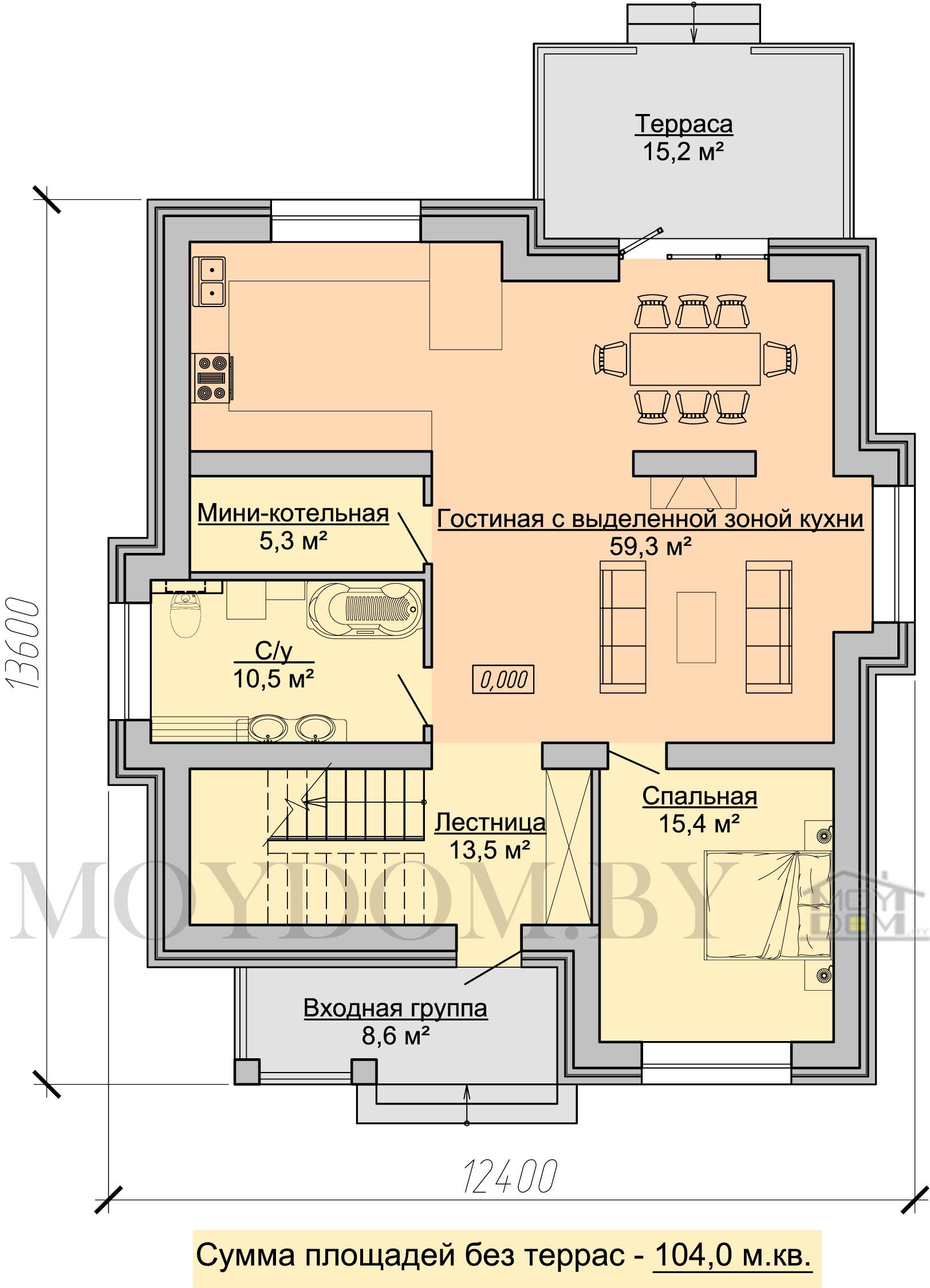 план классического дома