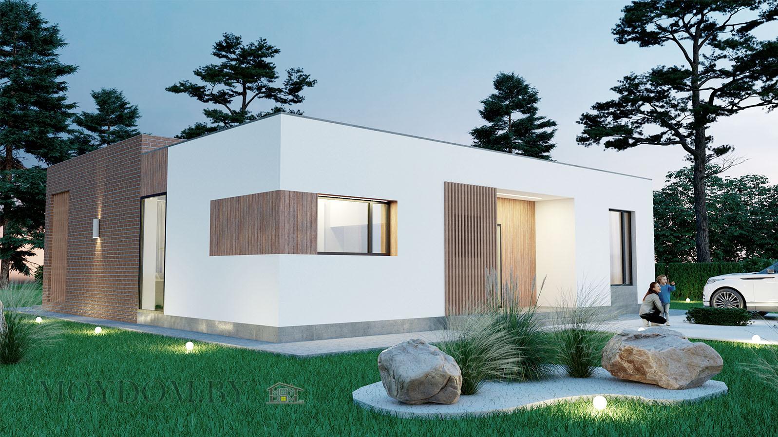проект современного дома 898 с тремя комнатами