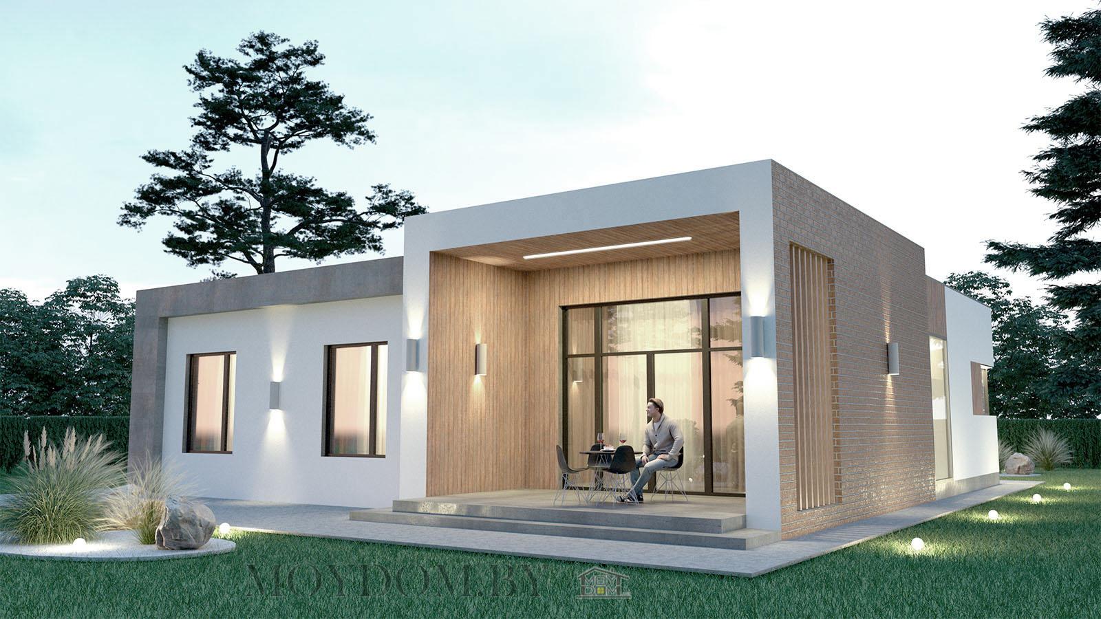 фото современного одноэтажного дома с террасой