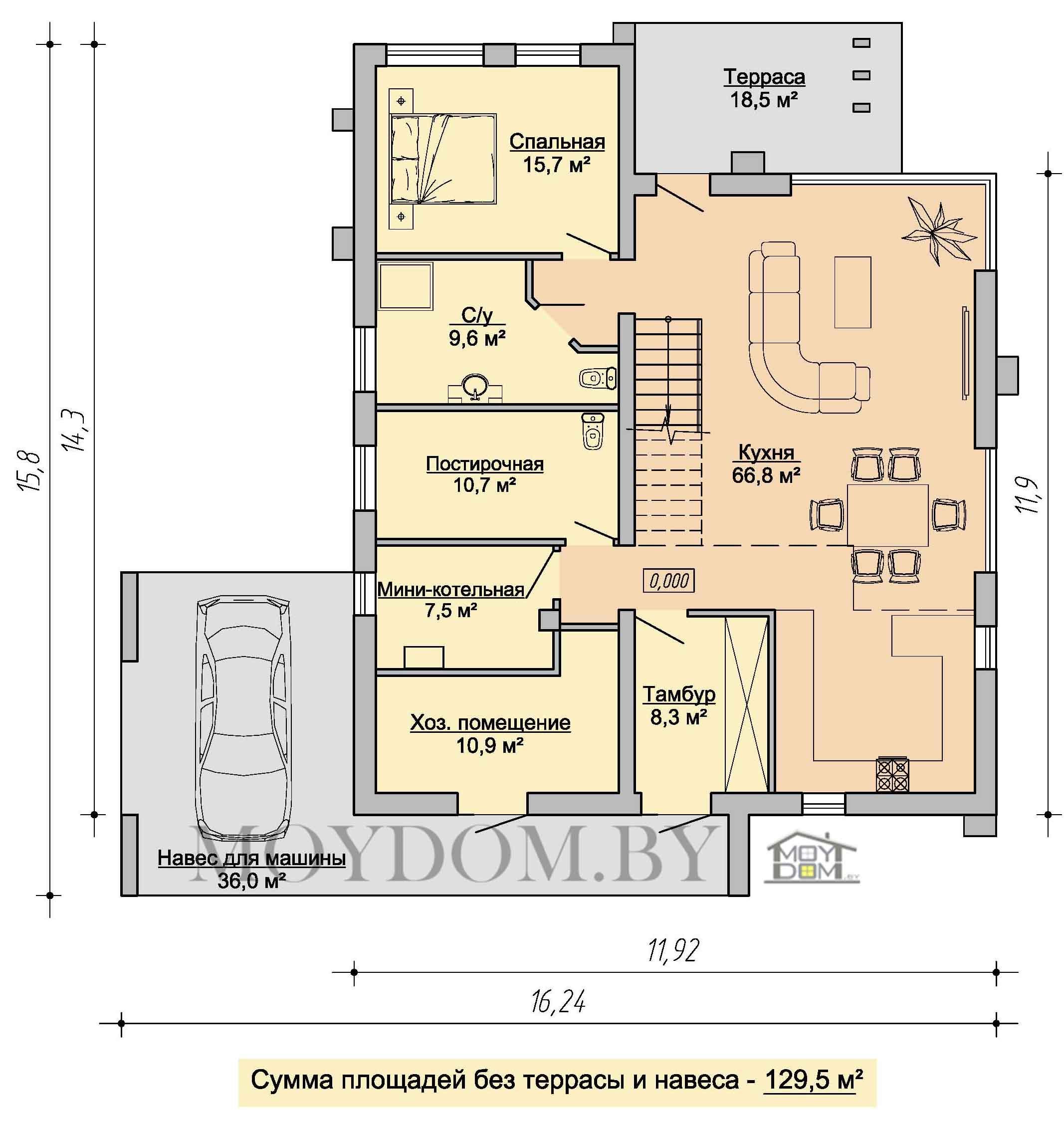 план современного двухэтажного дома 906