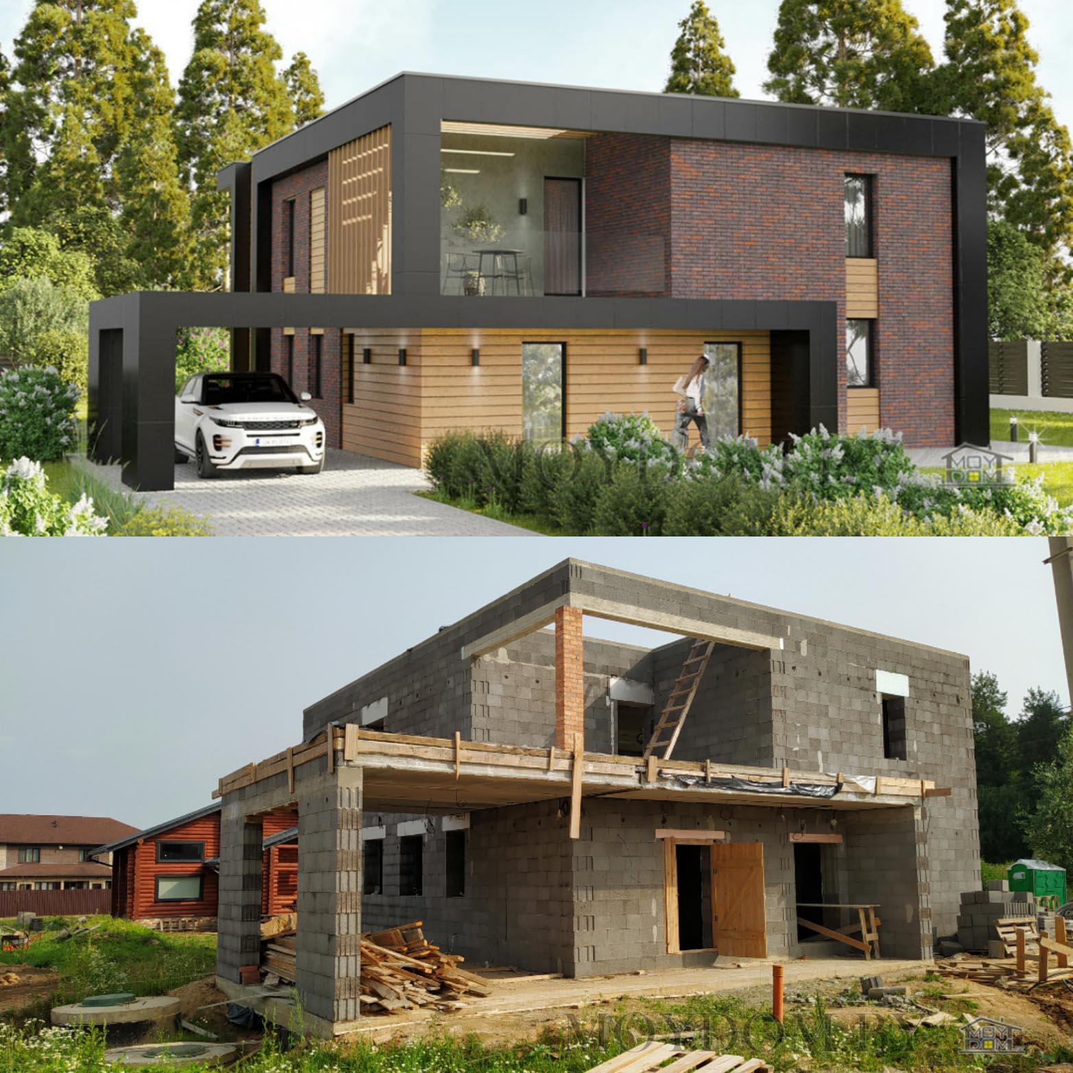 фото строительства дома по проекту 960