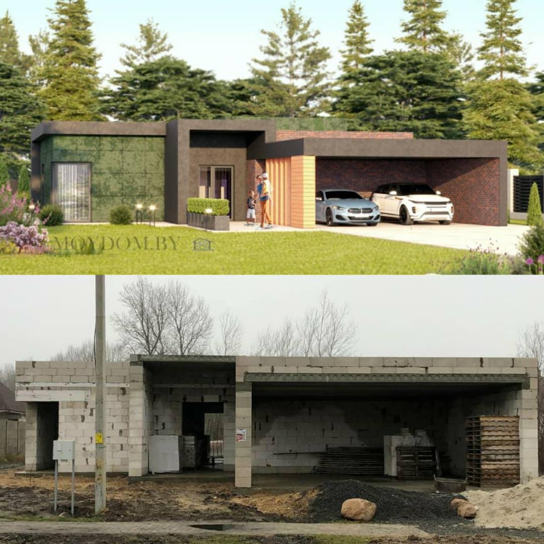 построенный по проекту 927 дом вид спереди