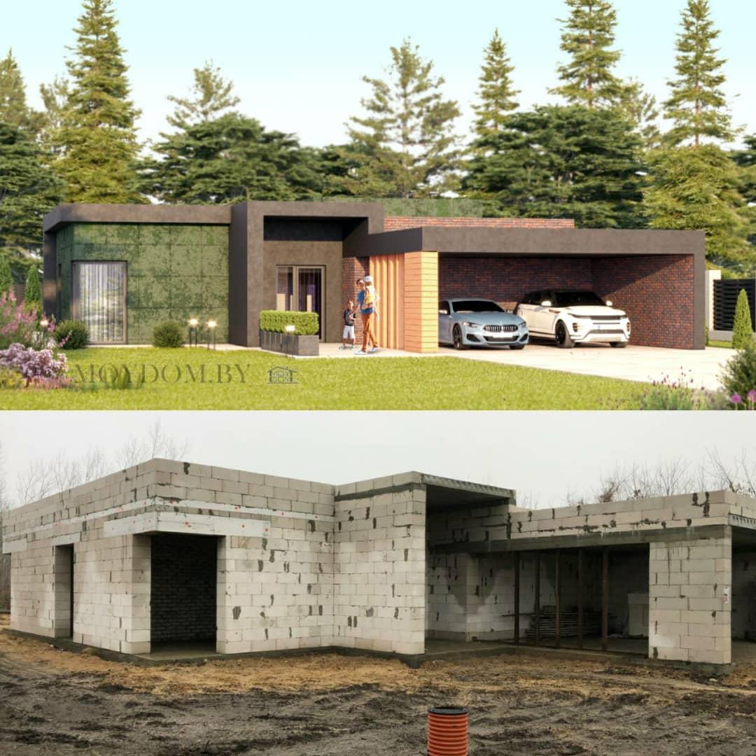 построенный по проекту 927 дом вид сбоку