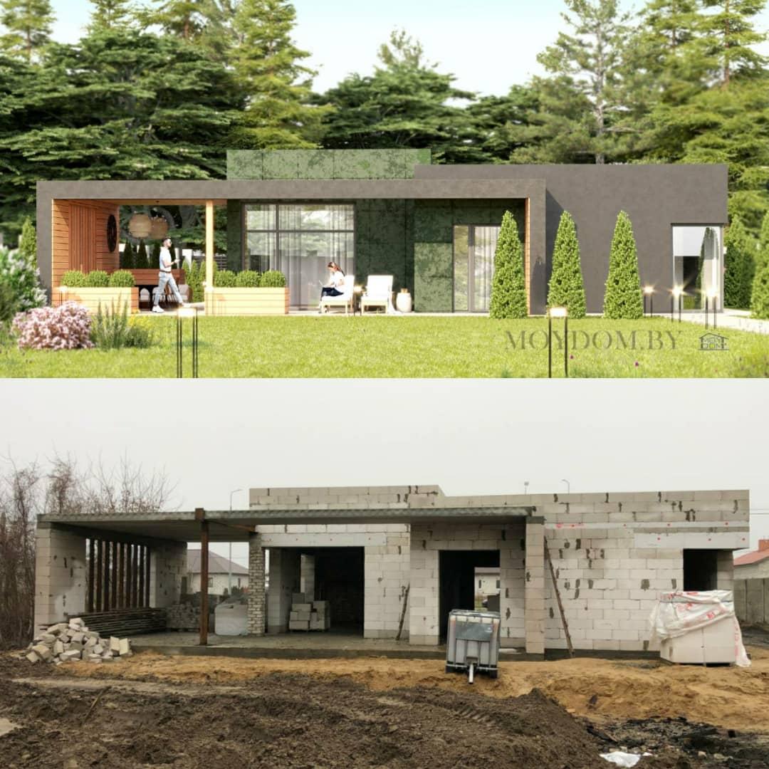 построенный дом по проекту 927 вид сзади